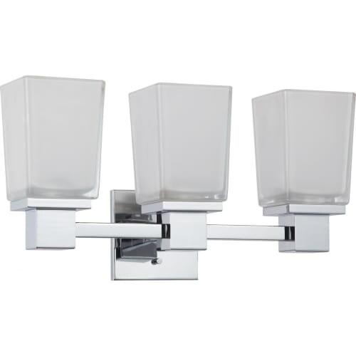 "Nuvo Lighting 60/4003 Parker 18-3/4"" Reversible 3 Light Bathroom Vanity Light"