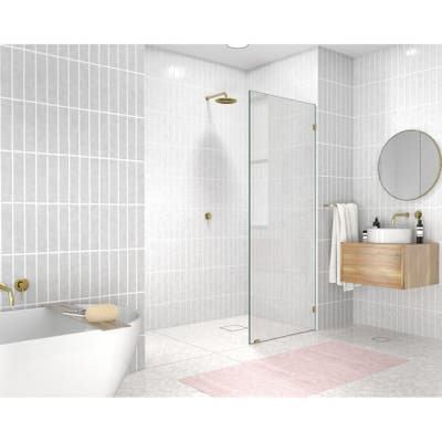 "Glass Warehouse 78"" x 28"" Frameless Shower Door - Single Fixed Panel"