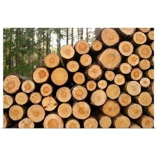 """""""Stacked logs"""" Poster Print"""