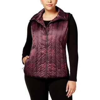 Calvin Klein Performance Womens Plus Outerwear Vest Fall Quilted