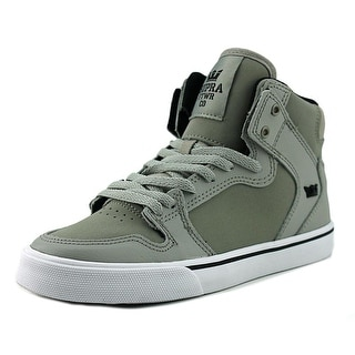 Supra Kids Vaider   Round Toe Leather  Skate Shoe
