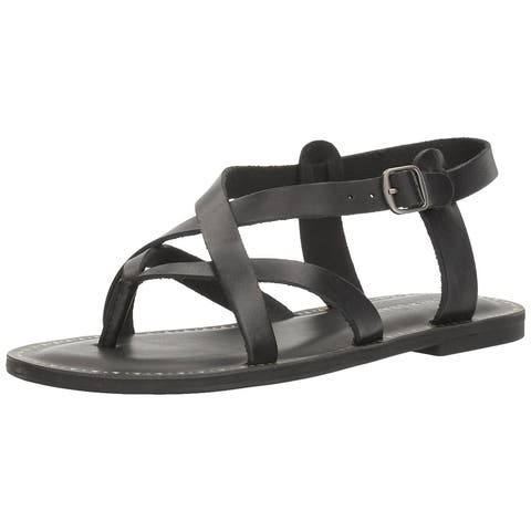 d9749a374165 Lucky Brand Womens Adinis Leather Open Toe Casual Strappy Sandals