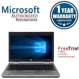"Refurbished HP EliteBook 2560P 12.5"" Laptop Intel Core i3-2310M 2.1G 4G DDR3 250G DVDRW Win 10 Pro 1 Year Warranty"
