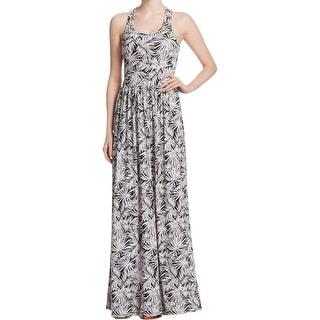 MICHAEL Michael Kors Womens Maxi Dress Printed High Waist