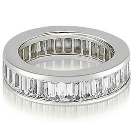 6.00 cttw. 14K White Gold Baguette Diamond Eternity Ring