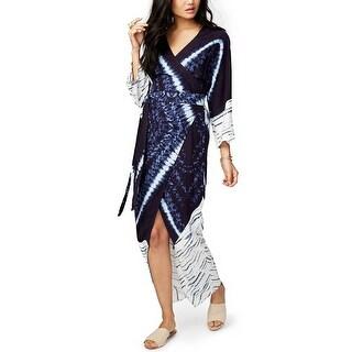 RACHEL Rachel Roy Tie Dyed Maxi Wrap Dress - s