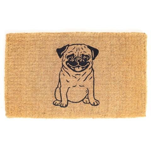 Pug Lover Doormat Extra Thick Handwoven, Durable
