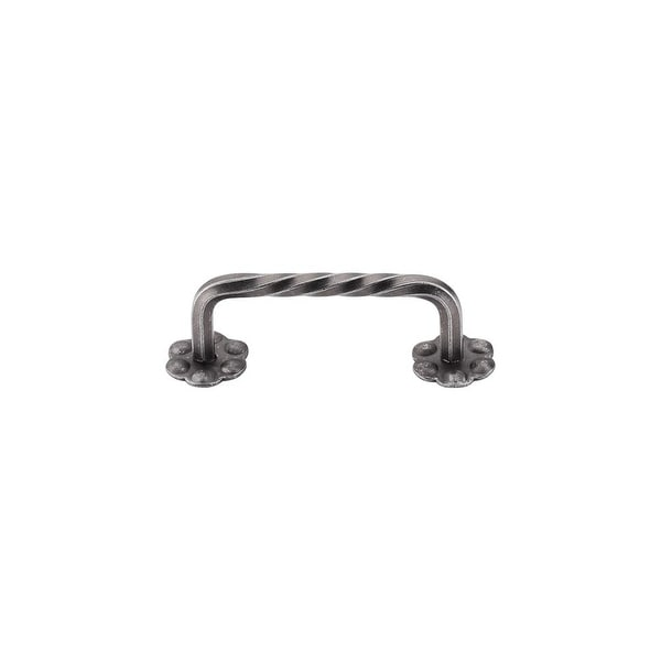 """Top Knobs M646 Twist 3-1/8"""" Center to Center Handle Cabinet Pull from the Normandy Series - PEWTER"""