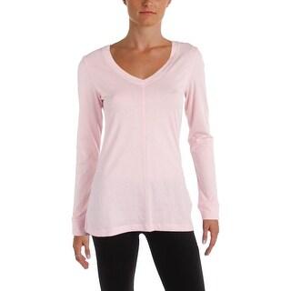 Nautica Womens Sleep Shirt Solid Long Sleeve