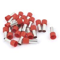 Unique Bargains 20 Pcs Wire Crimp Connector Terminal Insulated Ferrule Tube Red E25-16 4AWG