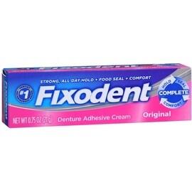 Fixodent Denture Adhesive Cream Original 0.75 oz