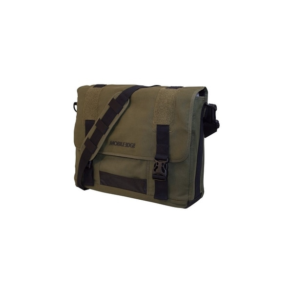 """Mobile Edge MECME9 Mobile Edge 17.3"""" Eco-Friendly Canvas Messenger Bag - 17.3"""" Screen Support - 13"""" x 17.5"""""""