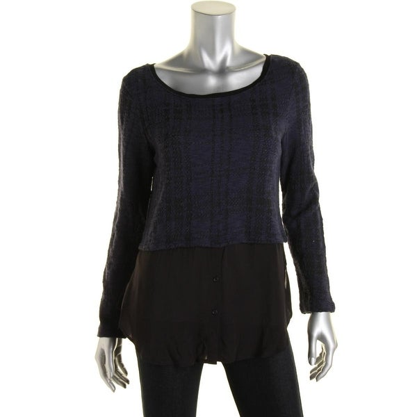 Santuary Clothing Womens Pullover Sweater Knit Layered