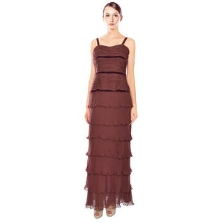 Liancarlo Silk Tiered Eve Gown Dress - 10