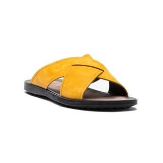 Tod's Men's Suede Ciabatta Sottopiede Cuoio Fondo Nu Sandal Shoes Autumn