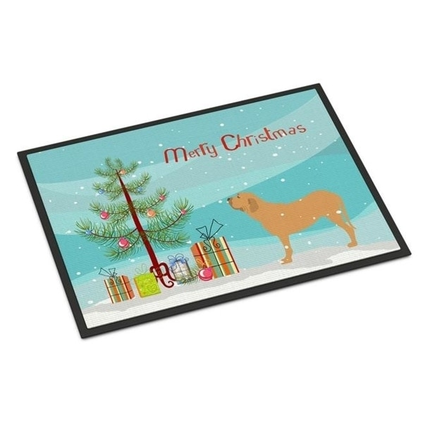 Carolines Treasures BB2997JMAT Fila Brasileiro Merry Christmas Tree Indoor or Outdoor Mat 24 x 36