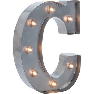 "Silver Metal Marquee Letter 9.875""-C"