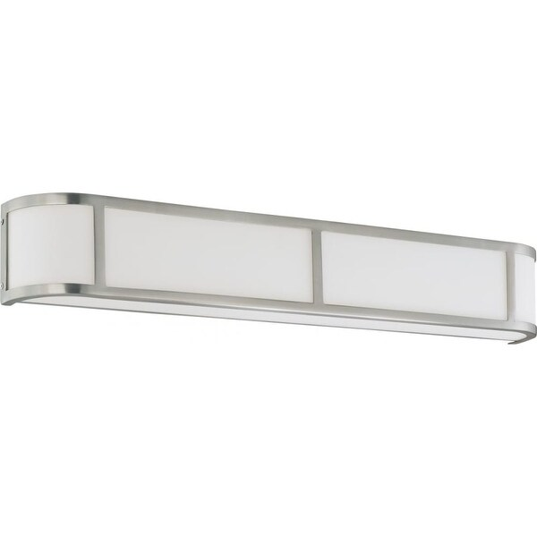 "Nuvo Lighting 60/2875 Odeon 4-Light 5"" Tall Wall Sconce with Frosted Glass Shade - Brushed nickel"