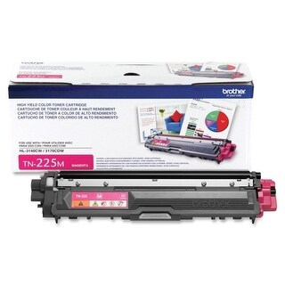 Brother TN225M Brother Toner Cartridge - Magenta - Laser - 2200 Page - 1 Each