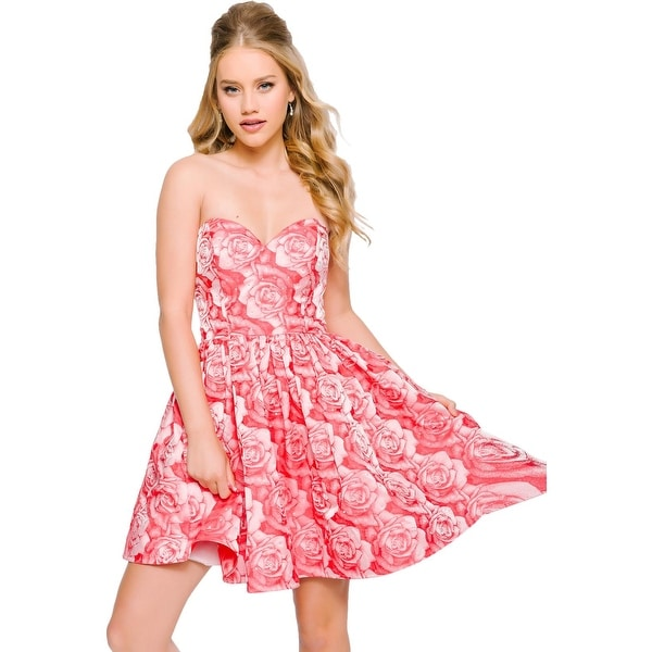 7c5d6c12ab4ce Jovani Rhinestone Strapless Semi-Formal Dress