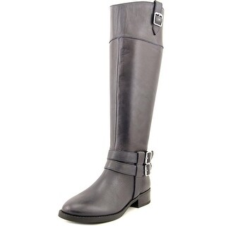 INC International Concepts Fahnee Round Toe Leather Knee High Boot