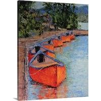 Leslie Saeta Premium Thick-Wrap Canvas entitled Fallen Leaf Lake
