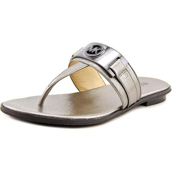 Michael Michael Kors Warren Thong Women Open Toe Leather Thong Sandal