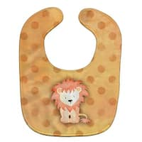 Carolines Treasures BB7374BIB Polkadot Lion Watercolor Baby Bib