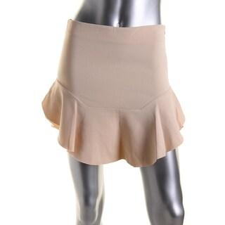 Zara Womens Above Knee Unhemmed Flare Skirt - L