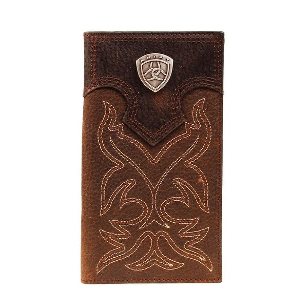 Ariat Western Wallet Mens Rodeo Boot Stitching Logo Shield - One size