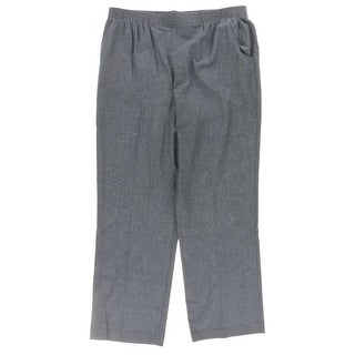 Alfred Dunner Womens Dress Pants Chambray Pull On