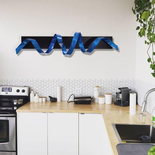 Statements2000 3d Metal Wall Art Accent Sculpture Black Silver Abstract Decor By Jon Allen Knight Overstock 12455970