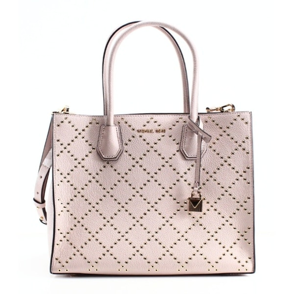 60889e53ab3b Michael Kors NEW Soft Pink Pebble Leather Grommet Mercer Tote Bag Purse