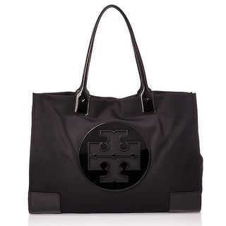 Link to Tory Burch Ella Patent Tote in Black Similar Items in Shop By Style