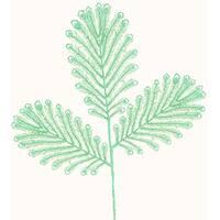 "26"" Light Green Winter Frost Glitter Feather Spray"