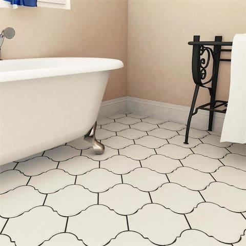 SomerTile 10.375x11.375-inch Mar Nostrum Provenzal Ibiza Porcelain Floor and Wall Tile