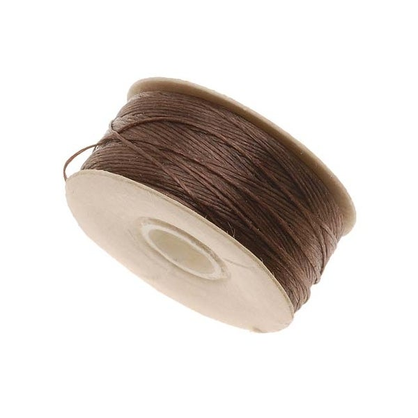 NYMO Nylon Beading Thread Size D for Delica Beads Brown 64YD (58 Meters)