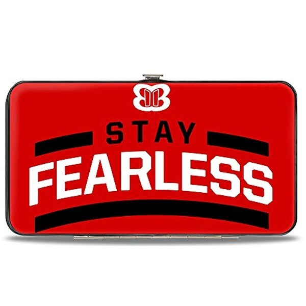 Nikki Bella Stay Fearless Badge Red Black White Hinged Wallet One Size - One Size Fits most