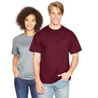 Hanes Beefy-T Adult Pocket T-Shirt - Size - 3XL - Color - Maroon