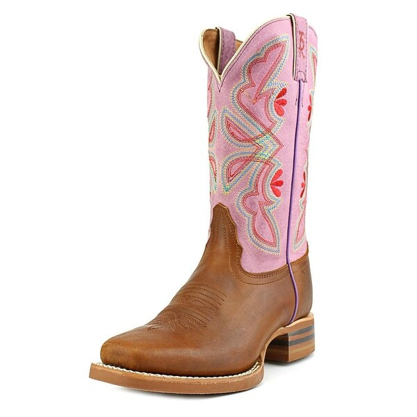 Tony Lama 3R2203L Women Square Toe Leather Purple Western Boot
