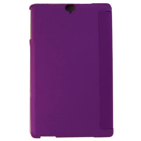 Verizon Hard Folio Case & Glass Screen Protector for Ellipsis 8 HD - Purple