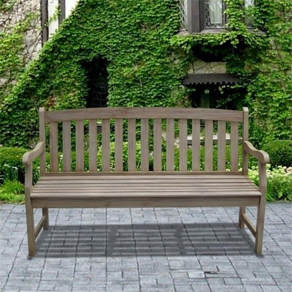 Miraculous Malibu Outdoor Patio 5 Foot Wood Backless Garden Bench V1400 Dailytribune Chair Design For Home Dailytribuneorg