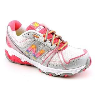 New Balance KJ689 Youth W Round Toe Synthetic Silver Running Shoe (Option: 6.5)