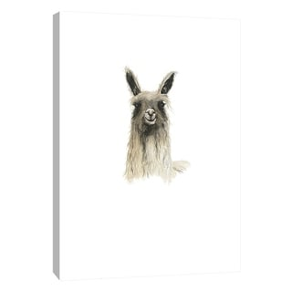 "PTM Images 9-105545  PTM Canvas Collection 10"" x 8"" - ""Llama 2"" Giclee Llamas Art Print on Canvas"