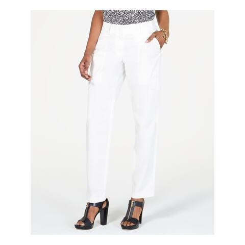MICHAEL KORS Womens White Cargo Pants Size 16