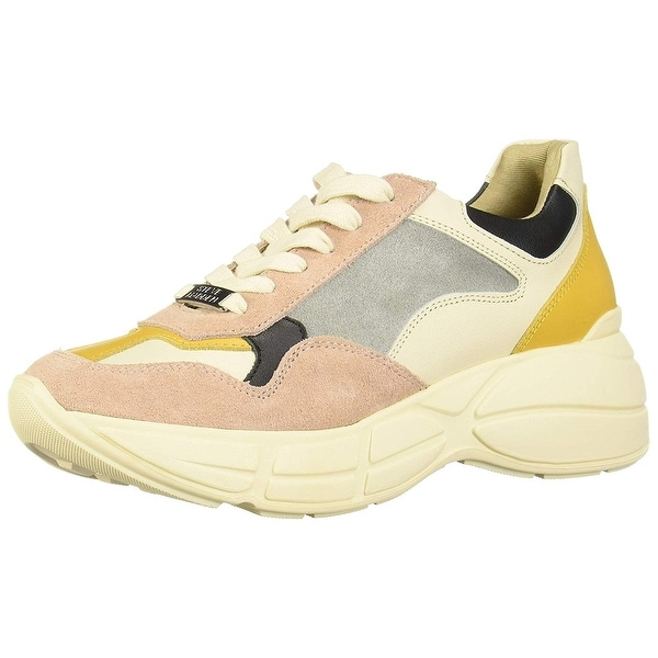 Steve Madden Womens Memory Leather Low