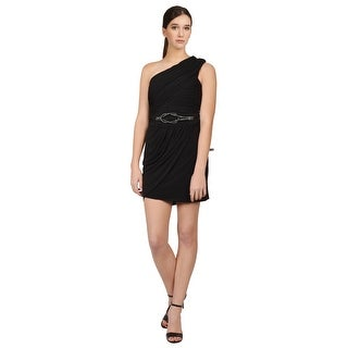 Laundry  One Shoulder Ruched Sleeveless Embellished Cocktail Dress - 2