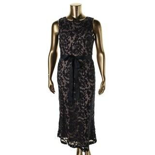 Adrianna Papell Womens Evening Dress Mesh Sleeveless