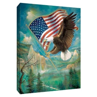 "PTM Images 9-148605  PTM Canvas Collection 10"" x 8"" - ""Pledge of Allegiance"" Giclee USA Flag Art Print on Canvas"