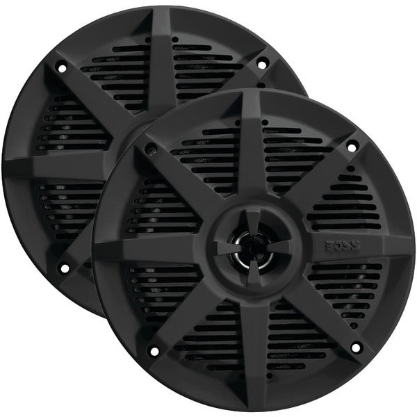 "BOSS AUDIO MR52B 2-Way Full-Range Marine Speakers (5.25"", Black)"